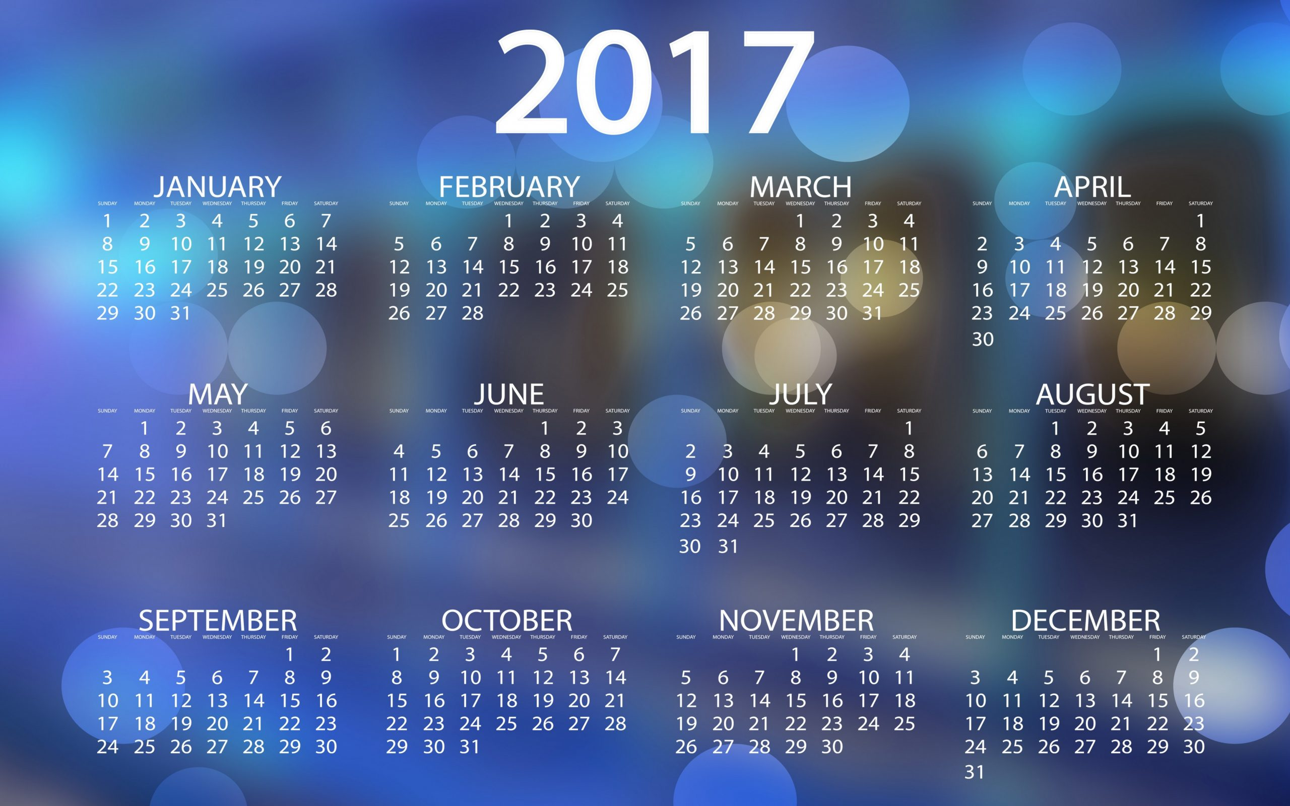 Calendar Wallpaper 2017 : Calendar wallpaper k background hd