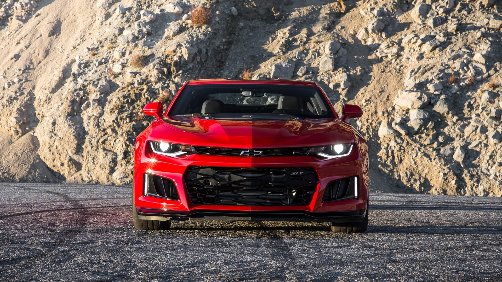 2017 Chevrolet Camaro Zl1 Red Wallpaper Hd Wallpaper