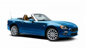 2017 Fiat 124 Spider Blue Wallpaper