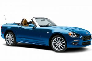 2017 fiat 124 spider blue wallpaper background
