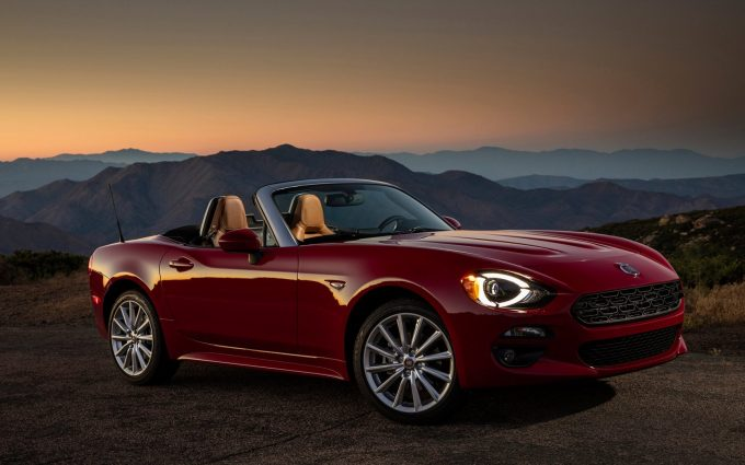 2017 fiat 124 spider wallpaper background