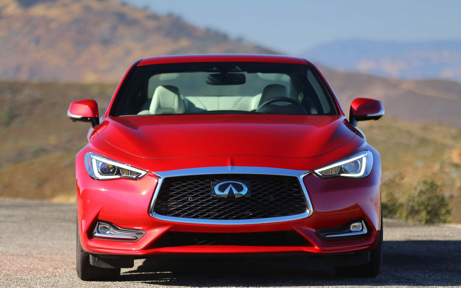 2017 infiniti q60 red wallpaper