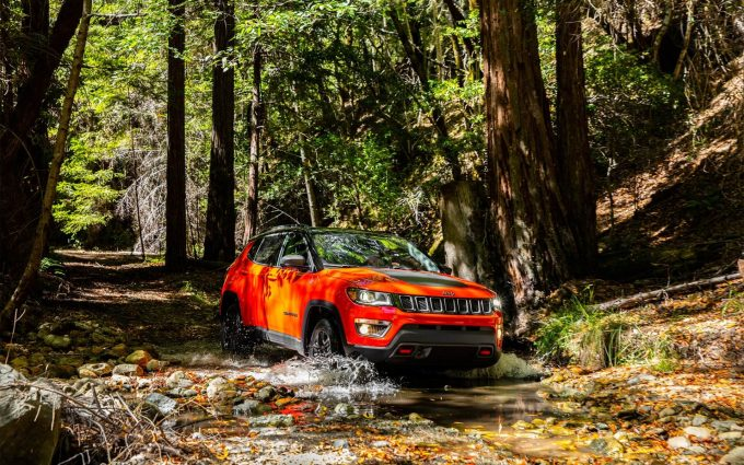 2017 jeep compass off road wallpaper background