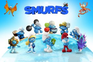 2017 smurfs the lost village wallpaper background