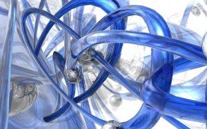 3D Blue Circles Wallpaper