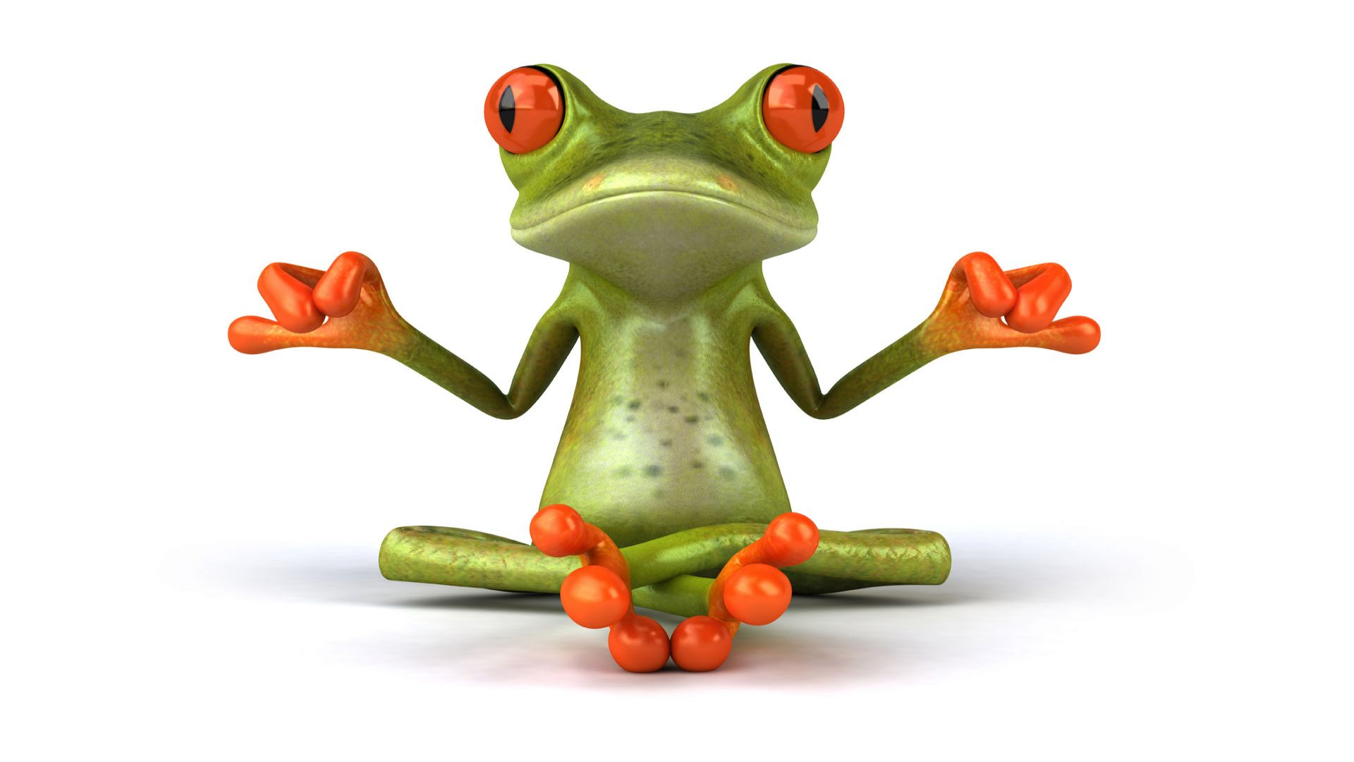 3D Frog Wallpaper Background