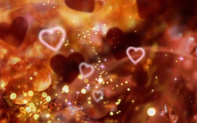 3d hearts wallpaper background