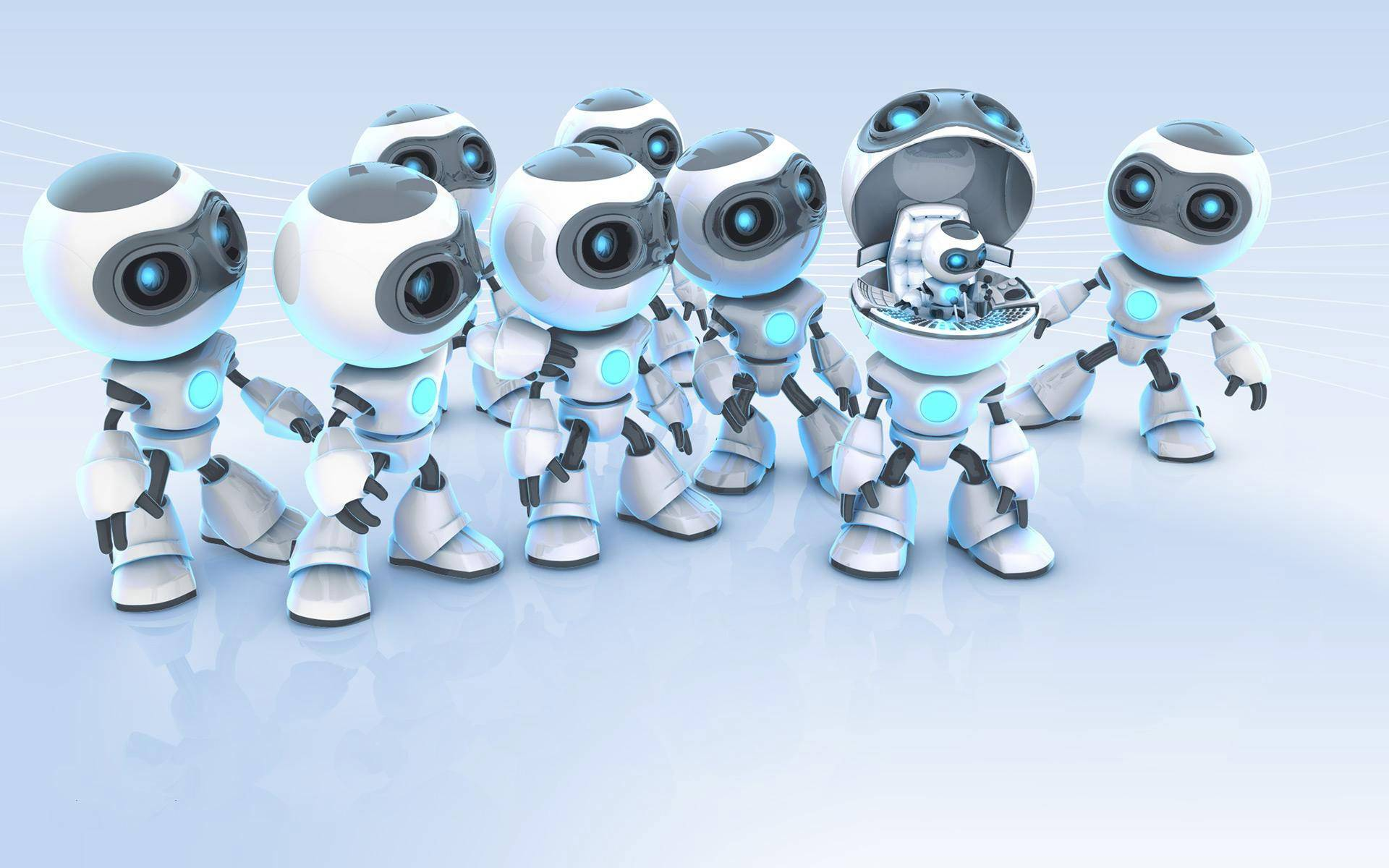 3d robots wallpaper background