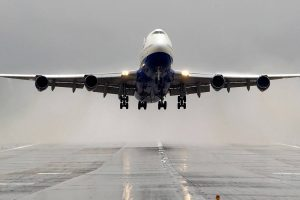airplane takeoff wallpaper background