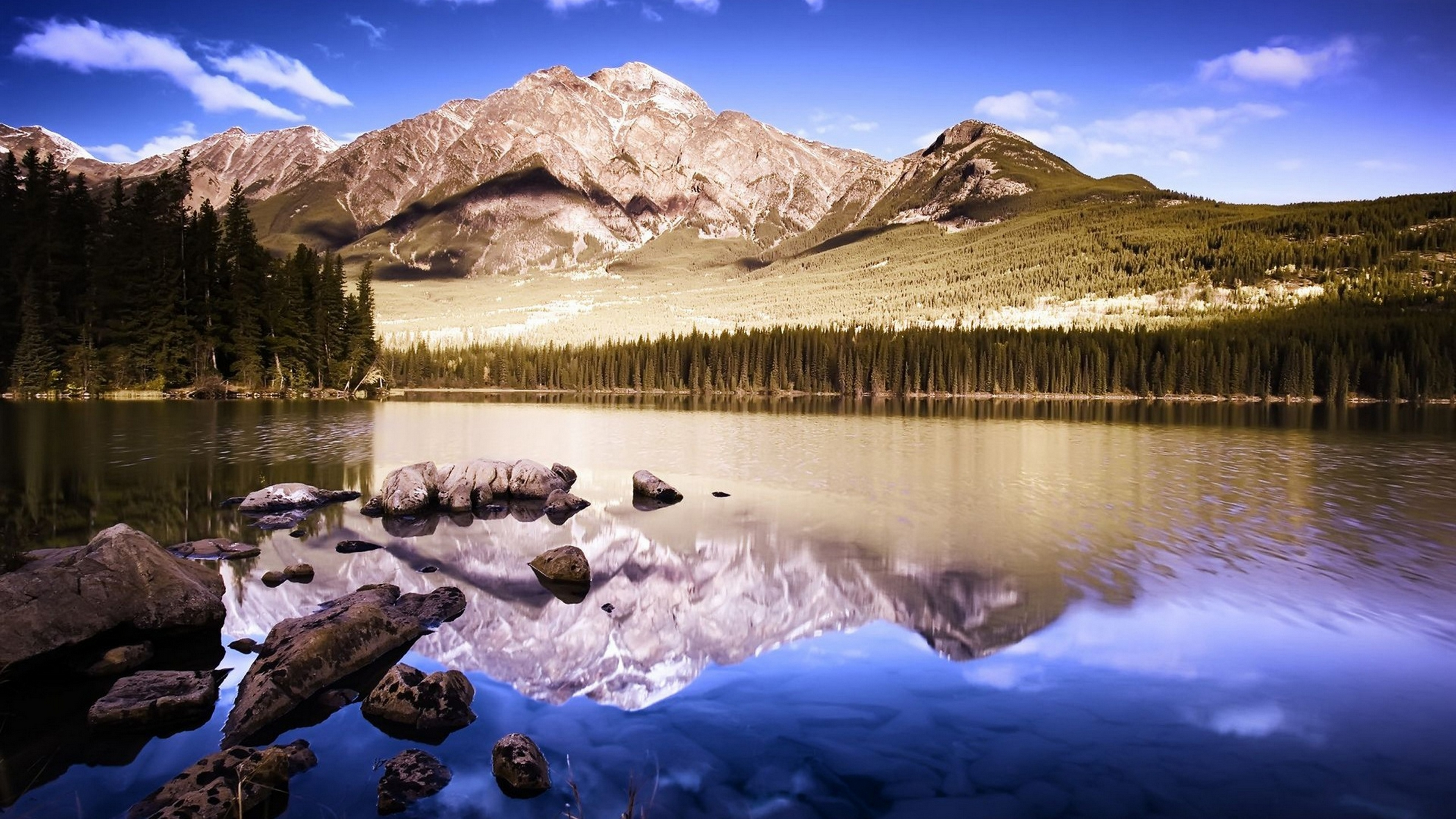 amazing mountain reflection 4k wallpaper background