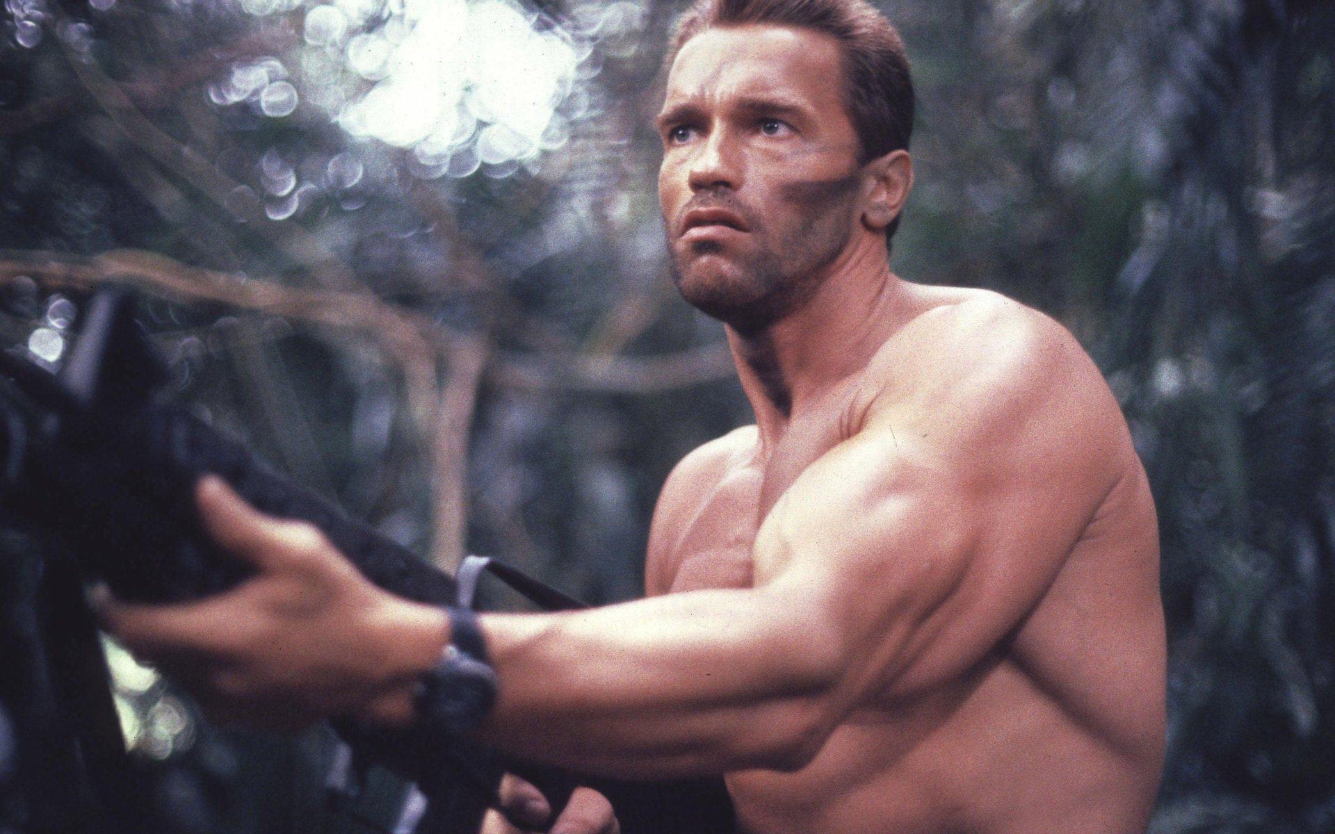arnold schwarzenegger in predator wallpaper background