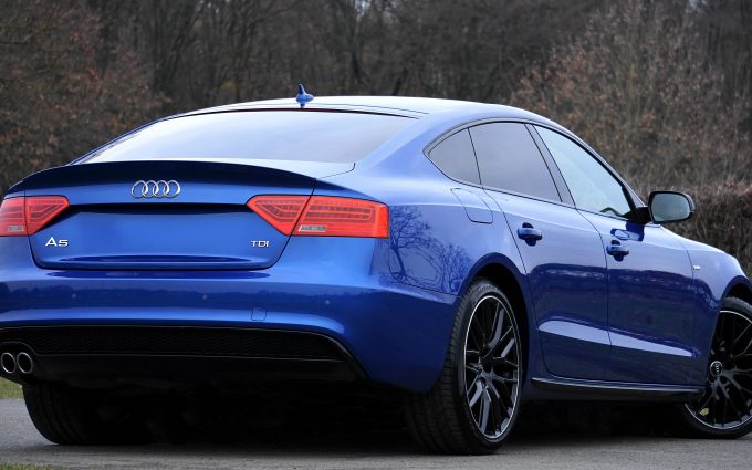 audi a5 blue wallpaper 4k background