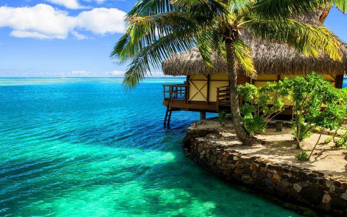 beach resort wallpaper background
