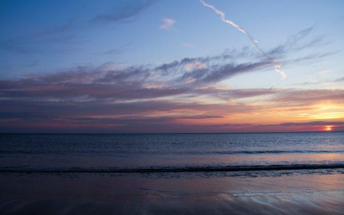 beach sunset 4k