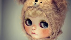 Beautiful Eyes of Doll Wallpaper