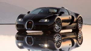 Black Bugatti Veyron Wallpaper Background