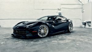 Black Ferrari HD Wallpaper