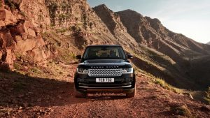 Black Range Rover Wallpaper Background