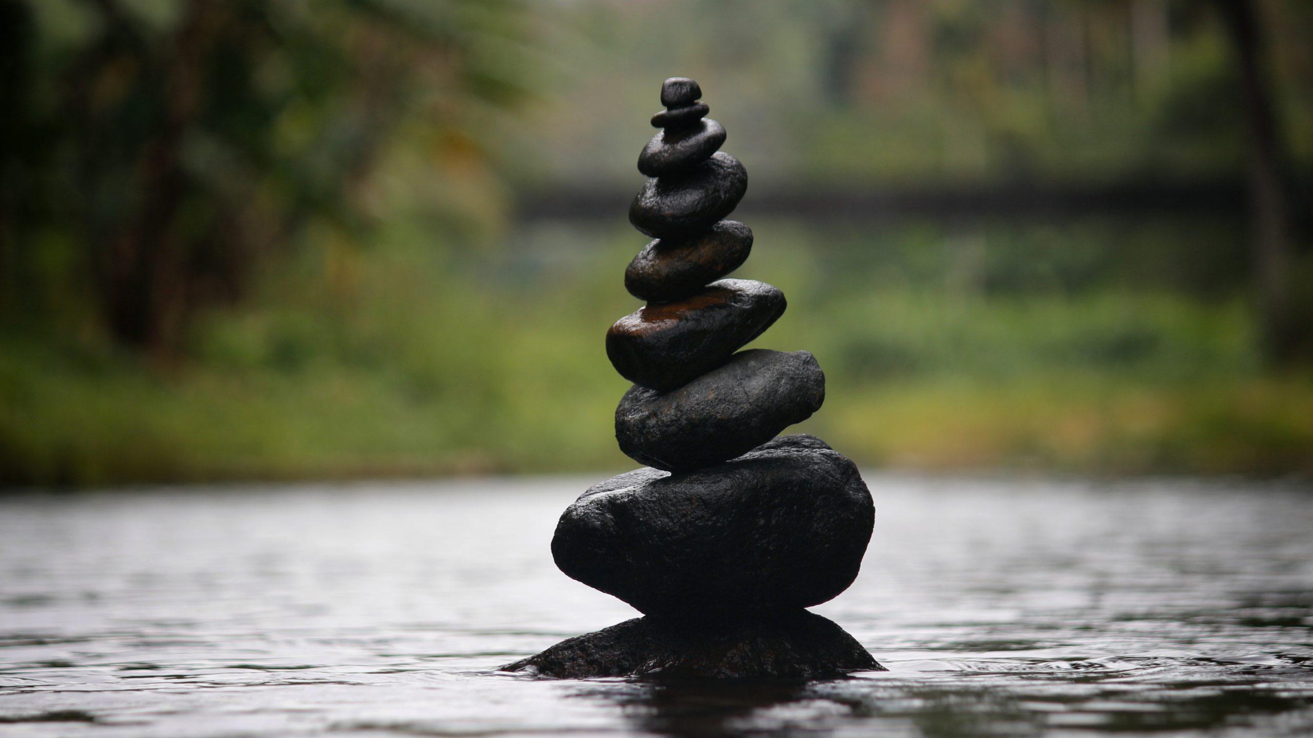 Black Stones Balance 4k 5k Wallpaper Hd Wallpaper Background