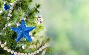 Blue Christmas Star Wallpaper