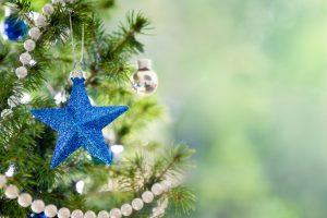 blue christmas star wallpaper background