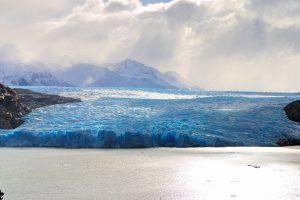 blue glacier wallpaper 4k background