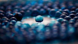 Blue Glass Balls Wallpaper Background