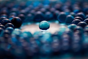 blue glass balls wallpaper background