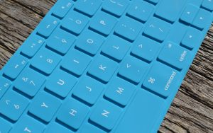 Blue Keyboard Wallpaper Background