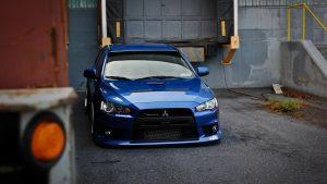 Blue Mitsubishi Lancer Wallpaper Background