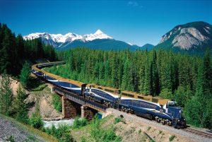 Blue Train Wallpaper Background
