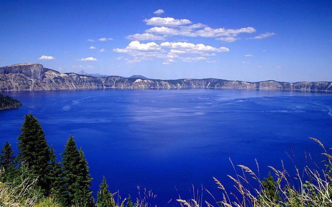 blue water lake wallpaper background