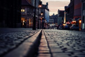 bricks road wallpaper background