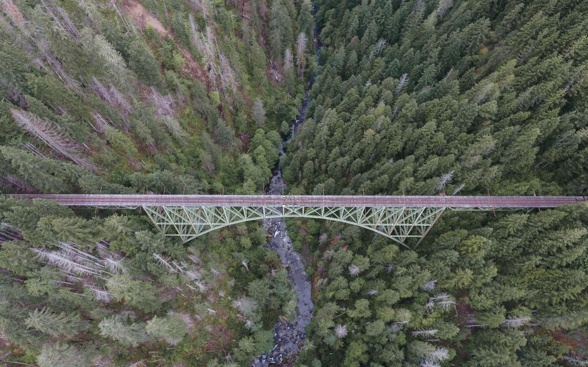 bridge aerial view wallpaper background