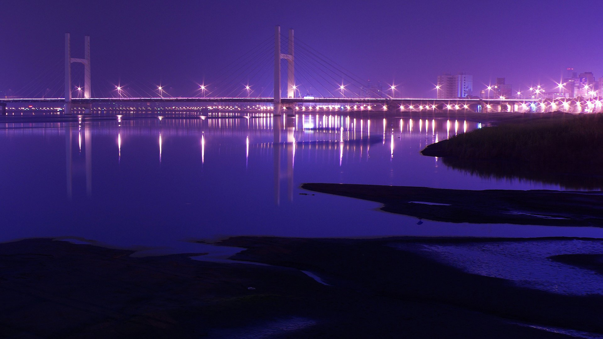 bridge at night wallpaper background