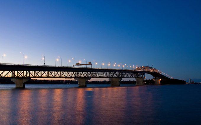 bridge in evening wallpaper background