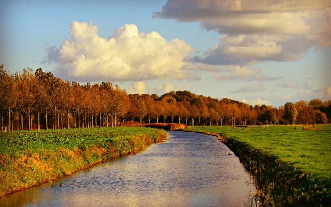 canal, waterway, 4k, hd, widescreen, wallpaper
