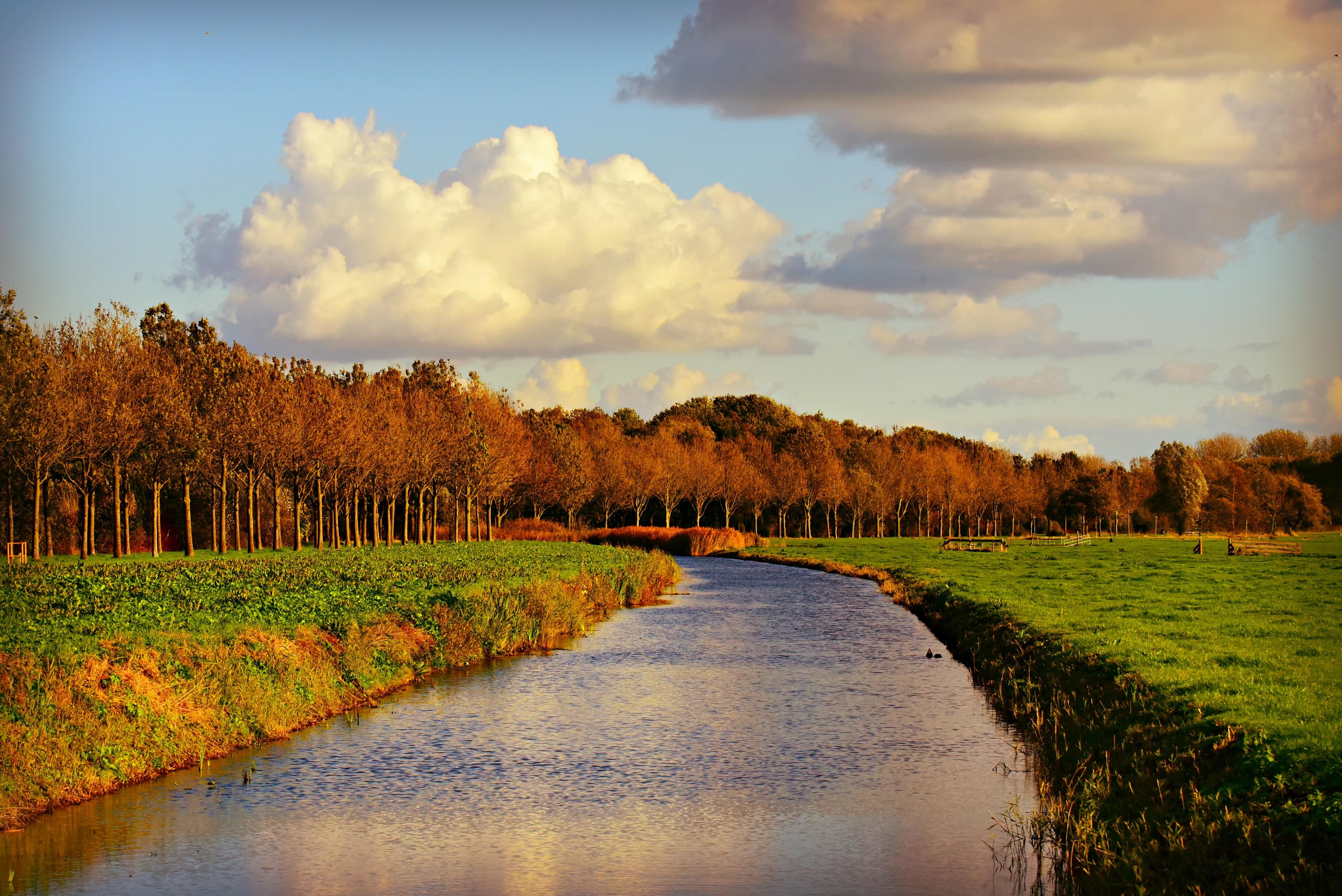 canal, waterway, 4k, hd, widescreen, wallpaper