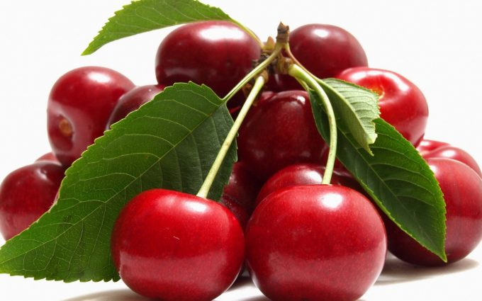 cherries macro wallpaper