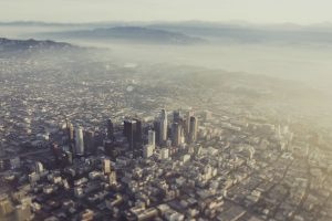 city aerial view wallpaper background