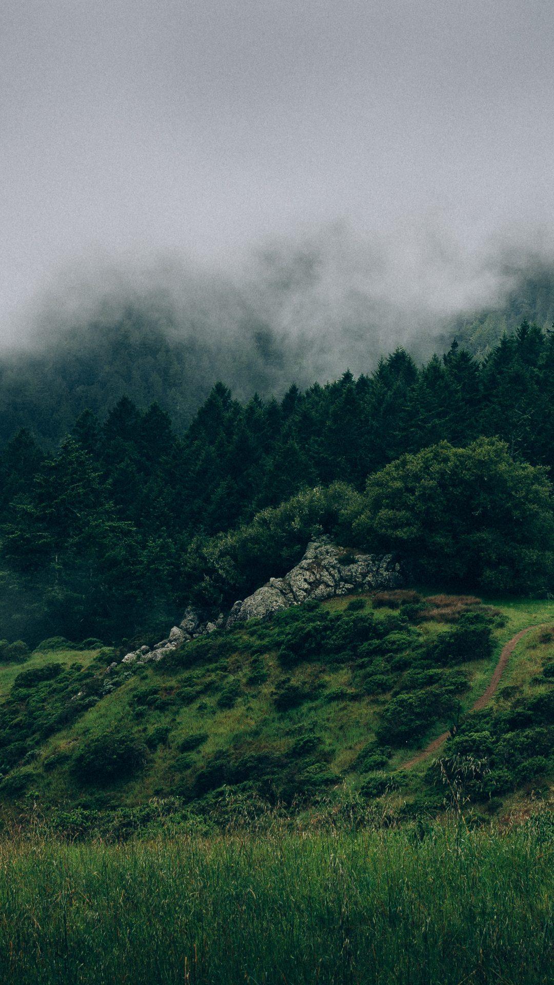 cloudy mountain phone wallpaper - photo #2