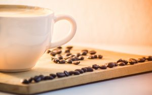 Coffee Cup With Beans Wallpaper