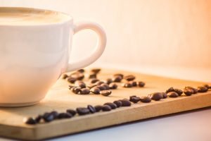 coffee cup with beans wallpaper background