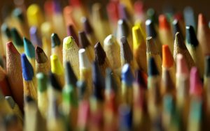 Color Pencils Close Up Wallpaper