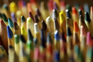 color pencils close up wallpaper background