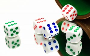 Colored Ludo Dice Wallpaper Background