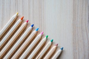 colored pencils wallpaper 4k background