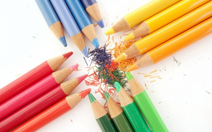 colored pencils wallpaper background