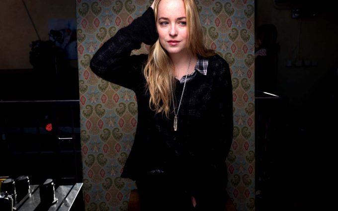 dakota johnson black dress wallpaper background