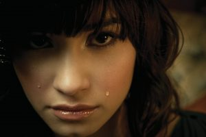demi lovato tears 4k wallpaper background wallpapers